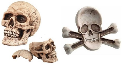 If you or someone you know loves skulls or pirate items, then take advantage of this special offer!  Buy our SKULL AND BONES GIFT SET and SAVE!!!!!  Set includes: 1- Skull trinket keeper/ashtray and 1-Skull & Crossbones ashtray ($38.97 cost when purchased separately) Each item is packed in its own box so you can give as a gift set, keep a favorite item for yourself and gift the other (we won't tell) or just treat yourself with both! You will be happy knowing that you have saved $10 off the price of buying both pieces separately too! So hurry before this offer disappears! SKULL AND BONES GIFT SET  #5177 $ 28.97