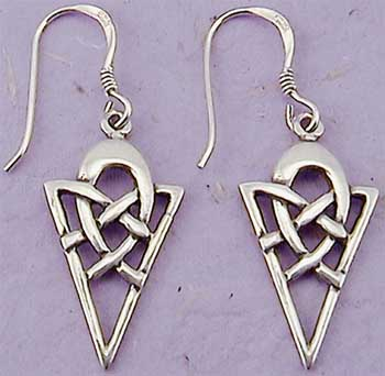 Sterling Silver ''Forever'' Celtic Knot Earrings