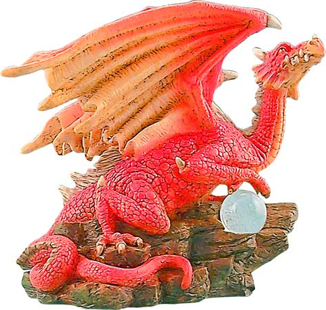The Watch Dragon Resin Figurine