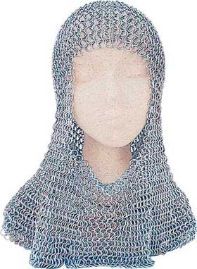 Chainmail Coif - Butted Steel Rings